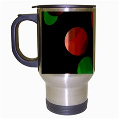 Colorful Circles Travel Mug (silver Gray) by Valentinaart