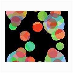 Colorful Circles Small Glasses Cloth (2 Side) by Valentinaart