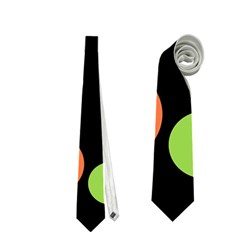 Colorful Circles Neckties (one Side)  by Valentinaart