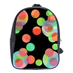 Colorful Circles School Bags(large)  by Valentinaart