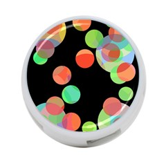 Colorful Circles 4 Port Usb Hub (one Side) by Valentinaart