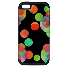 Colorful Circles Apple Iphone 5 Hardshell Case (pc+silicone) by Valentinaart