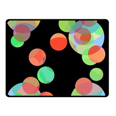 Colorful Circles Double Sided Fleece Blanket (small)  by Valentinaart