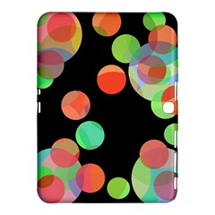 Colorful Circles Samsung Galaxy Tab 4 (10 1 ) Hardshell Case  by Valentinaart