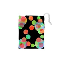 Colorful Circles Drawstring Pouches (xs)  by Valentinaart