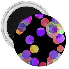 Colorful Decorative Circles 3  Magnets by Valentinaart