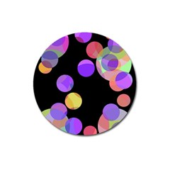 Colorful Decorative Circles Magnet 3  (round) by Valentinaart