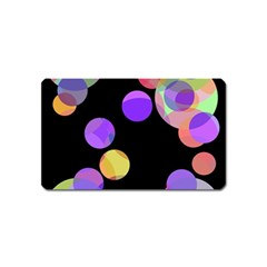 Colorful Decorative Circles Magnet (name Card) by Valentinaart