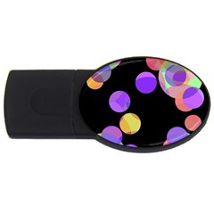 Colorful Decorative Circles Usb Flash Drive Oval (2 Gb)  by Valentinaart