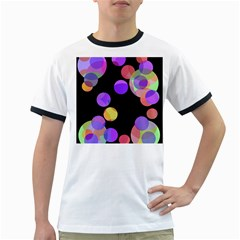 Colorful Decorative Circles Ringer T Shirts by Valentinaart