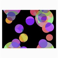 Colorful Decorative Circles Large Glasses Cloth by Valentinaart