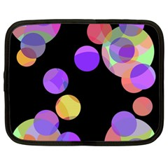 Colorful Decorative Circles Netbook Case (xl)  by Valentinaart