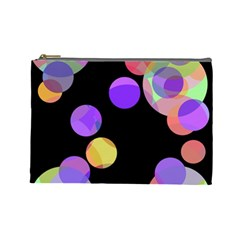 Colorful Decorative Circles Cosmetic Bag (large)  by Valentinaart