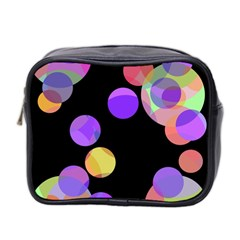 Colorful Decorative Circles Mini Toiletries Bag 2 Side by Valentinaart