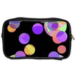 Colorful Decorative Circles Toiletries Bags 2 Side by Valentinaart