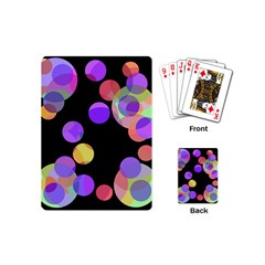 Colorful Decorative Circles Playing Cards (mini)  by Valentinaart