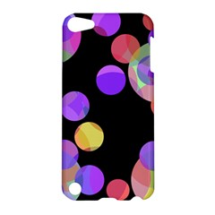 Colorful Decorative Circles Apple Ipod Touch 5 Hardshell Case by Valentinaart