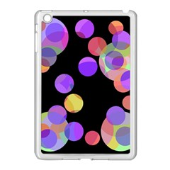 Colorful Decorative Circles Apple Ipad Mini Case (white) by Valentinaart
