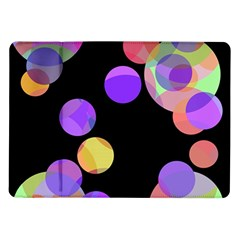 Colorful Decorative Circles Samsung Galaxy Tab 10 1  P7500 Flip Case by Valentinaart
