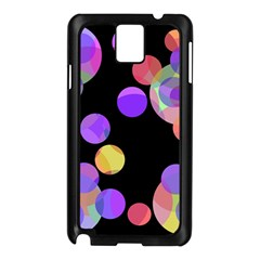 Colorful Decorative Circles Samsung Galaxy Note 3 N9005 Case (black) by Valentinaart