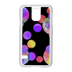 Colorful Decorative Circles Samsung Galaxy S5 Case (white) by Valentinaart