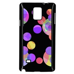 Colorful Decorative Circles Samsung Galaxy Note 4 Case (black) by Valentinaart