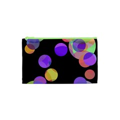 Colorful Decorative Circles Cosmetic Bag (xs) by Valentinaart