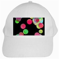 Colorful Decorative Circles White Cap by Valentinaart