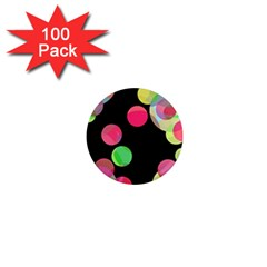 Colorful Decorative Circles 1  Mini Magnets (100 Pack)  by Valentinaart