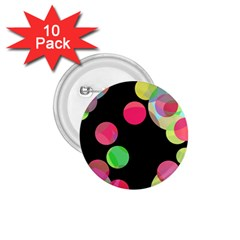 Colorful Decorative Circles 1 75  Buttons (10 Pack) by Valentinaart