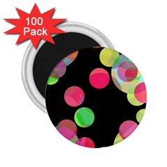 Colorful Decorative Circles 2 25  Magnets (100 Pack)  by Valentinaart