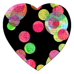 Colorful Decorative Circles Jigsaw Puzzle (heart) by Valentinaart