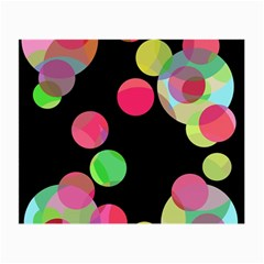 Colorful Decorative Circles Small Glasses Cloth (2-side) by Valentinaart