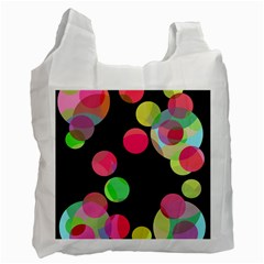 Colorful Decorative Circles Recycle Bag (two Side)  by Valentinaart