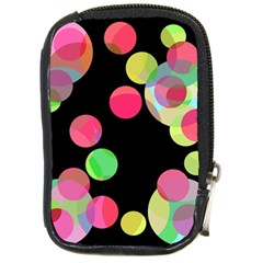 Colorful Decorative Circles Compact Camera Cases by Valentinaart