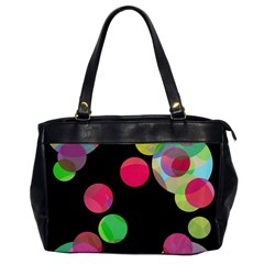 Colorful Decorative Circles Office Handbags by Valentinaart