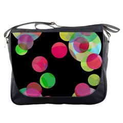 Colorful Decorative Circles Messenger Bags by Valentinaart