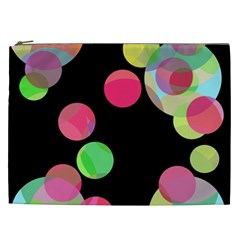 Colorful Decorative Circles Cosmetic Bag (xxl)  by Valentinaart