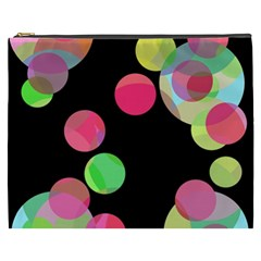 Colorful Decorative Circles Cosmetic Bag (xxxl)  by Valentinaart