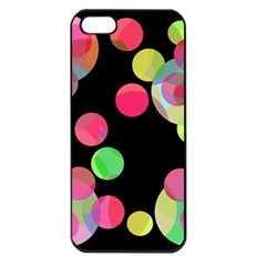 Colorful Decorative Circles Apple Iphone 5 Seamless Case (black) by Valentinaart