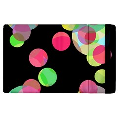 Colorful Decorative Circles Apple Ipad 2 Flip Case by Valentinaart