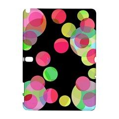 Colorful Decorative Circles Samsung Galaxy Note 10 1 (p600) Hardshell Case