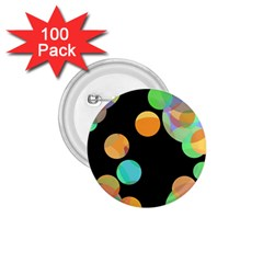 Orange Circles 1 75  Buttons (100 Pack)  by Valentinaart