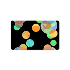 Orange Circles Magnet (name Card) by Valentinaart
