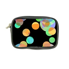 Orange Circles Coin Purse by Valentinaart