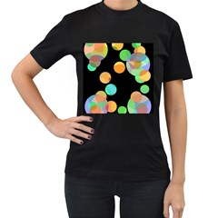Orange Circles Women s T Shirt (black) by Valentinaart
