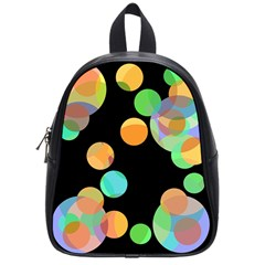 Orange Circles School Bags (small)  by Valentinaart