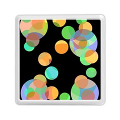 Orange Circles Memory Card Reader (square)  by Valentinaart