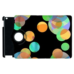 Orange Circles Apple Ipad 2 Flip 360 Case by Valentinaart