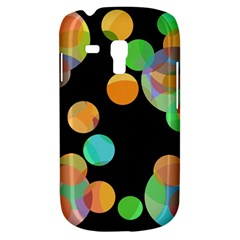 Orange Circles Samsung Galaxy S3 Mini I8190 Hardshell Case by Valentinaart